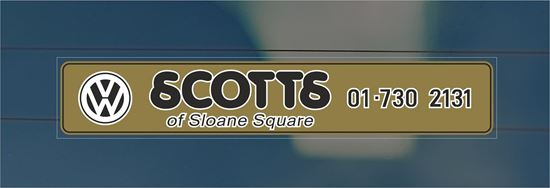 Picture of Scotts of Sloane Square - London Dealer rear glass Sticker