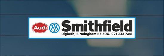Picture of Smithfield- Birmingham Dealer rear glass Sticker