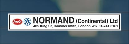 Picture of Normand  - London Dealer rear glass Sticker