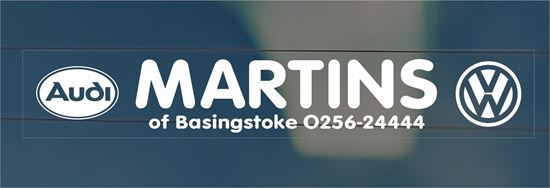 Picture of Martins of Basingstoke Dealer rear glass Sticker