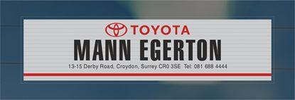 Picture of Mann Egerton - Croydon Dealer rear glass Sticker