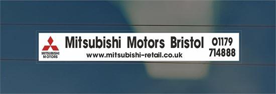 Picture of Mitsubishi Motors - Bristol Dealer rear glass Sticker