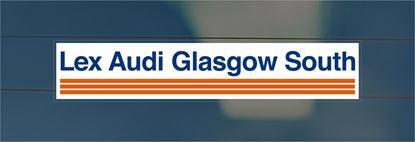 Picture of Lex Audi Glasgow South York Dealer rear glass Sticker