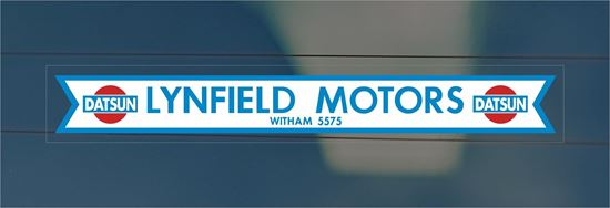 Picture of Lynfield Motors - Witham Essex Dealer rear glass Sticker