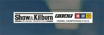 Picture of Shaw & Kilburn - Hempstead Dealer rear glass Sticker