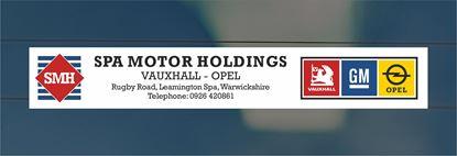 Picture of SPA Motor Holdings - Lemington Spa Dealer rear glass Sticker