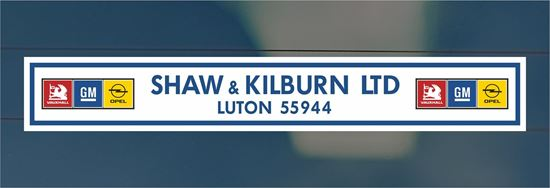 Picture of Shaw & Kilburn Ltd - Luton Dealer rear glass Sticker