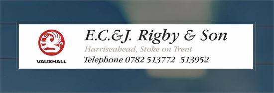 Picture of EC & J Rigby - Stoke on Trent  Dealer rear glass Sticker