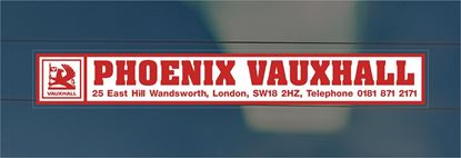 Picture of Phoenix Vauxhall - London Dealer rear glass Sticker