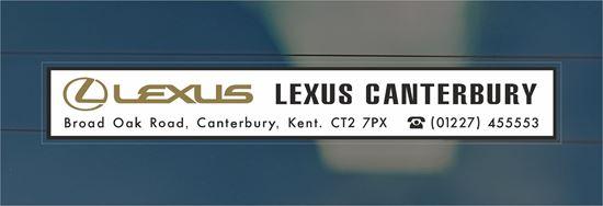 Picture of Lexus - Kent Dealer rear glass Sticker