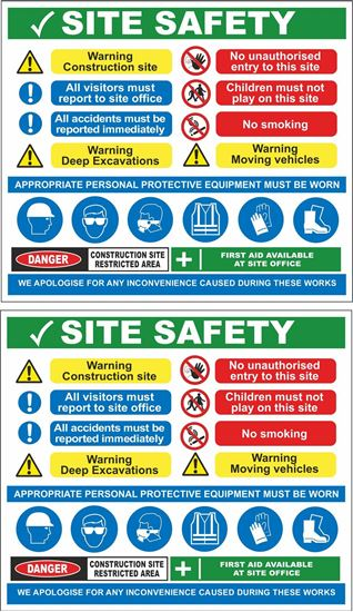 Picture of Site Safety Decals / Stickers