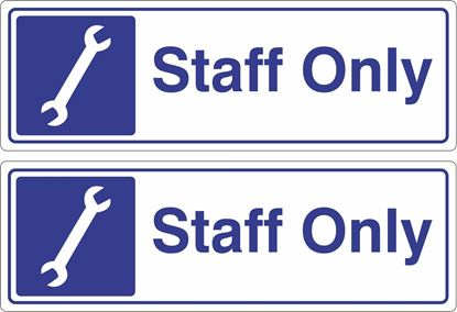 Picture of Staff only Decals / Stickers