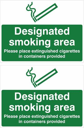 Picture of Designated Smoking Area Decals / Stickers