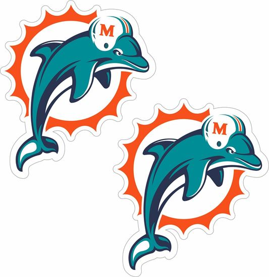 Picture of Miami Dolphins Stickers / Decals