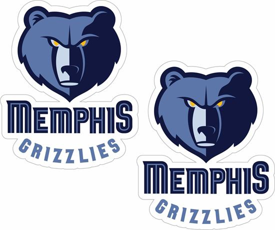 Picture of Memphis Grizzlies Stickers / Decals