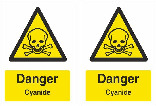 Picture of Danger cyanide Decals / Stickers