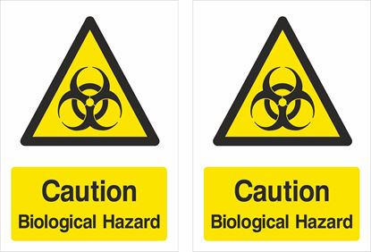 Picture of Caution Biological Hazard Decals / Stickers