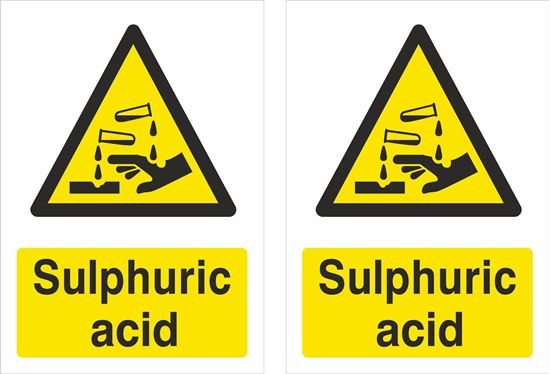 Picture of Sulphuric acid Decals / Stickers