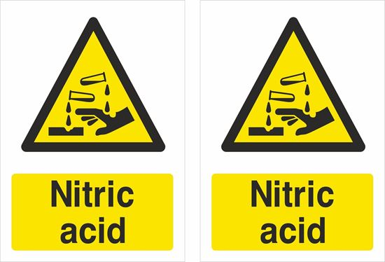 Picture of Nitric acid Decals / Stickers