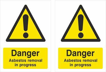 Picture of Danger Asbestos removal in progress Decals / Stickers