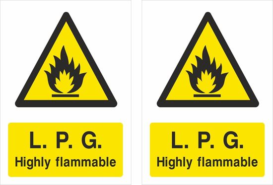 Picture of L.P.G. Highly flammable Decals / Stickers