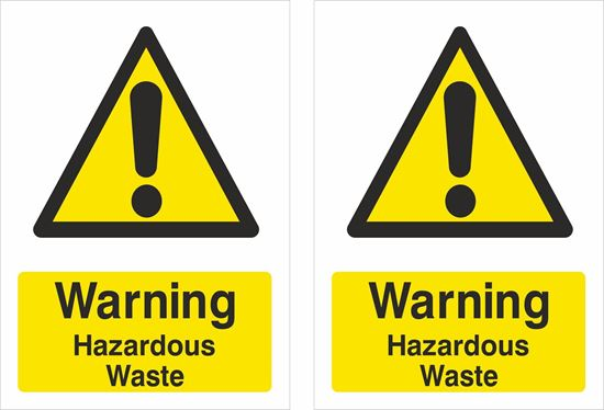 Picture of Warning Hazardous Waste Decals / Stickers