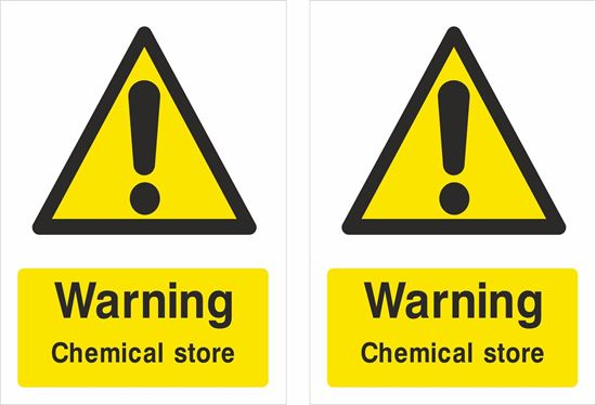 Picture of Warning Chemical store Decals / Stickers