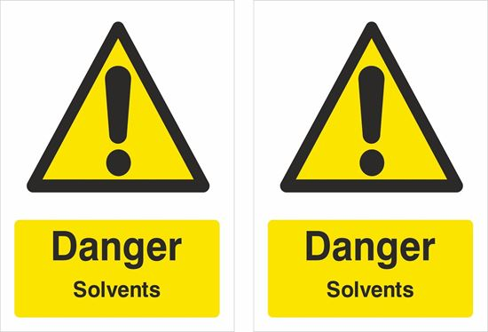 Picture of Danger Solvents Decals / Stickers