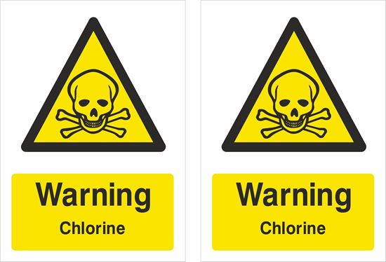 Picture of Warning Chlorine Decals / Stickers