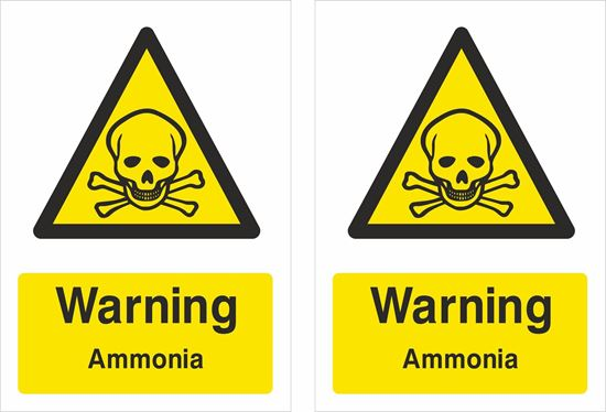Picture of Warning Ammonia Decals / Stickers