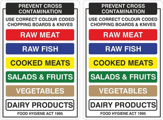 Picture of Prevent cross contamination Decals / Stickers