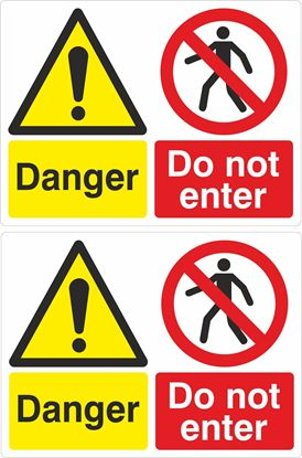Picture of Danger, Do not enter Decals / Stickers