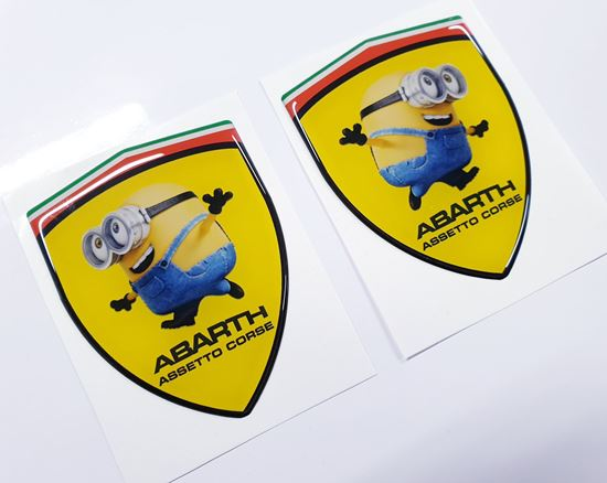 Picture of Fiat Abarth Assetto Corse Minion wing Badges 80mm