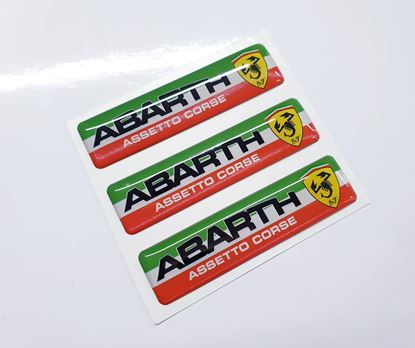 Picture of Fiat  Abarth Assetto Corse Badges 55mm
