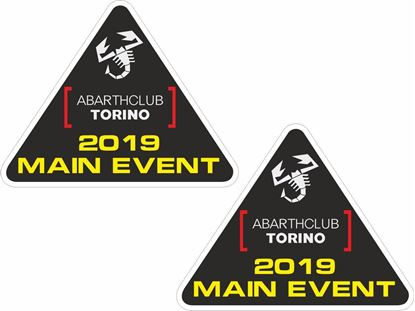 Picture of Abarth Club Torino 2019 event Stickers / Decals