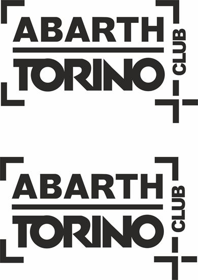 Picture of Abarth Torino Club Decals / Stickers