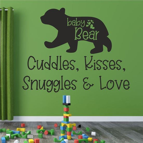 """Picture of """"Cuddles, Kisses, Snuggles & Love""""  Wall Art sticker"""