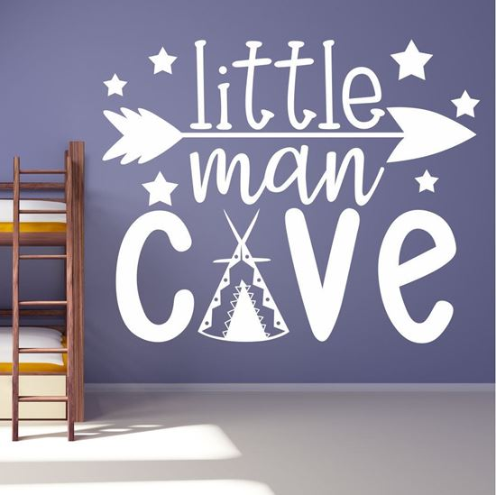 Picture of Little Man Cave Wall Art sticker