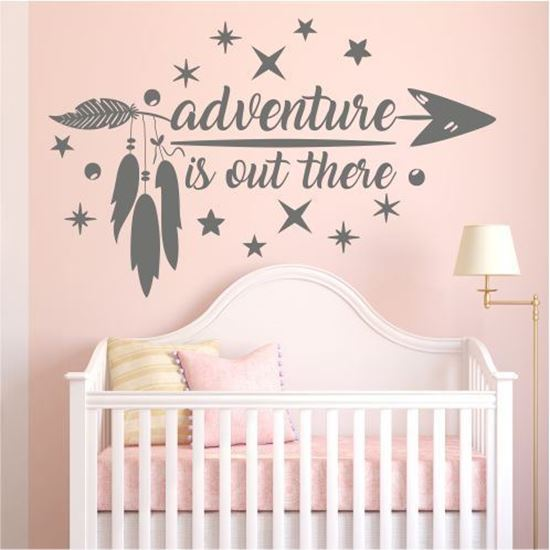 "Picture of ""adventure is out there"" Wall Art sticker"