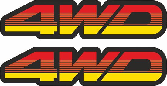 Picture of 4WD Decals / Stickers