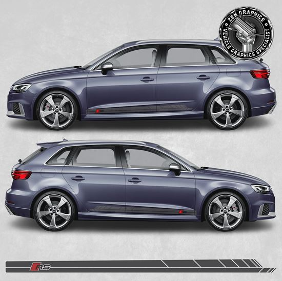 Picture of A3 RS3 side Stripes