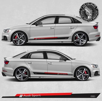 """Picture of A3 """"Audi Sport"""" side Stripes"""
