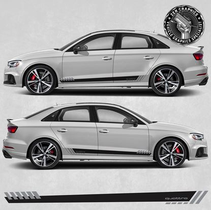 """Picture of A3 """"Quattro"""" side Stripes"""