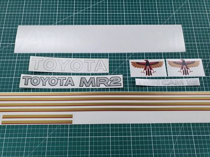 Picture of Toyota MR2 Mk1 replacement Stripes / Sticker set