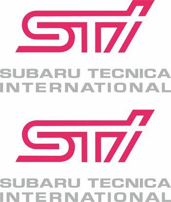 Picture of Impreza STi  version 1 - 4 fog cover Decals / Stickers SILVER