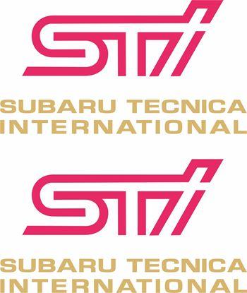 Picture of Impreza STi version 1 - 4 fog cover Decals / Stickers GOLD