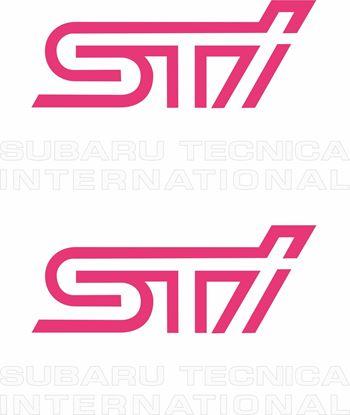 Picture of Impreza STi version 1 - 4 fog cover Decals / Stickers WHITE