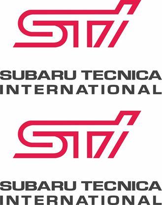 Picture of Impreza STi version 5 fog cover Decals / Stickers ANTHRACITE