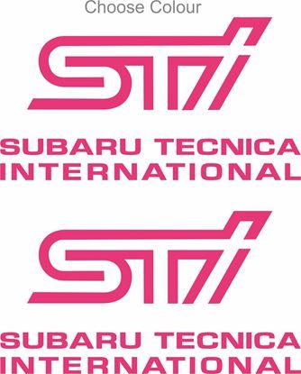 Picture of Impreza STi Version 1 - 4 fog cover Decals / Stickers PICK COLOUR