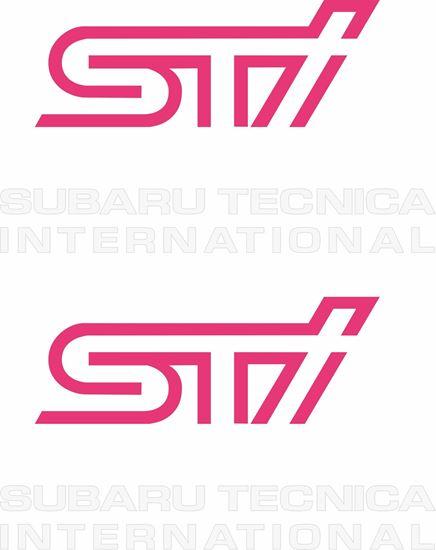 Picture of Impreza STi version 5 fog cover Decals / Stickers WHITE
